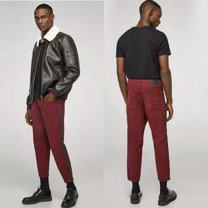Zara Man loose fit cropped pants 34
